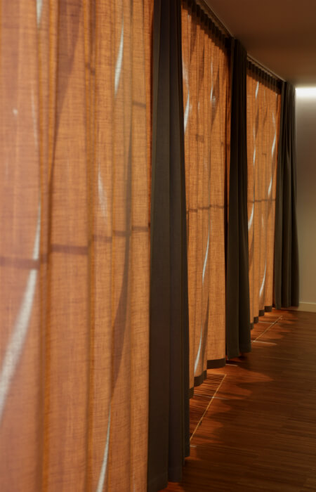 Проект - Лиепая Концертный зал - шторы текстуры льна