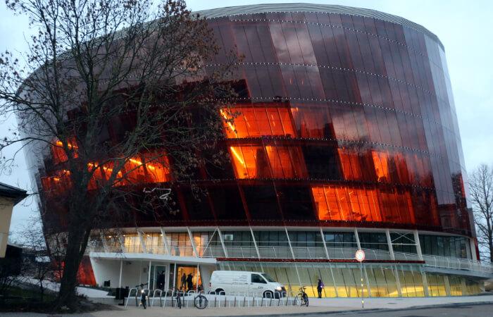 Projekts - Liepājas koncertzāle - Lielais Dzintars - lina tekstūras aizkari