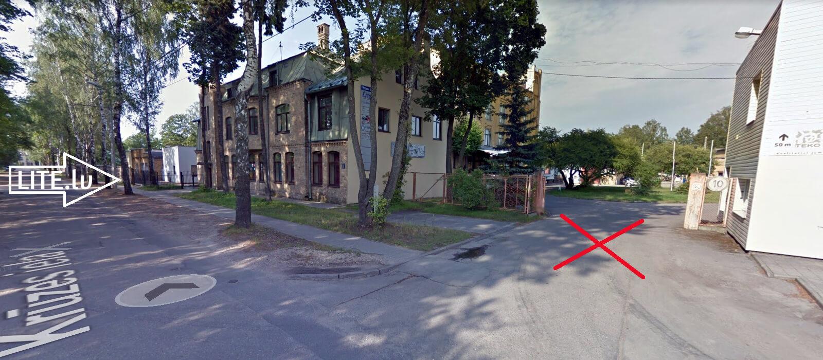Krūzes iela 3, norādes iebraukšanai LITE.lv teritorijā