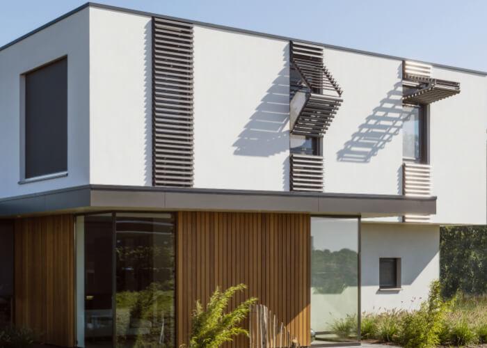 Cilium unikāls vertikāls sunbreakers risinājums, ko iespējams pacelt horizontālā stāvoklī - RENSON (Beļģija)