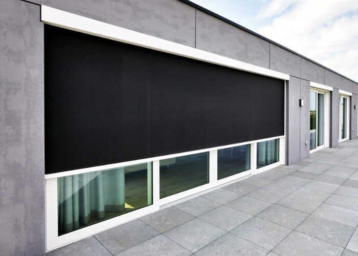 FixScreen - outdoor ZIP roller blinds (covered area of up to 22m2); RENSON