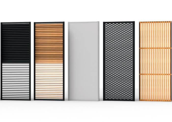 Loggia - vertical sliding panels/ shutters RENSON (Belgium)