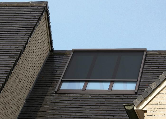 TopFix - āra jumta ZIP žalūzijas ar nosedzamo platību līdz 12m2; RENSON